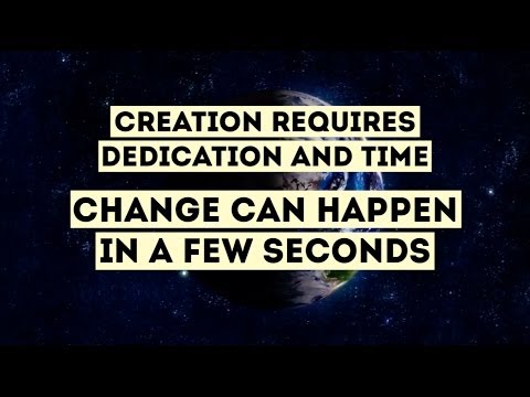 How important is the time on the changes of your life!
