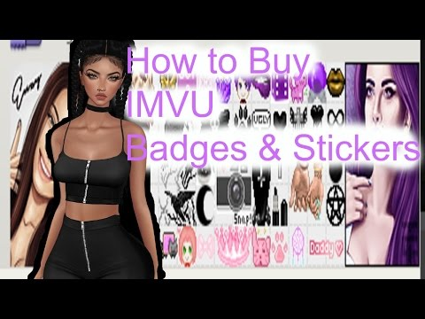IMVU: How to Buy Badges and Stickers