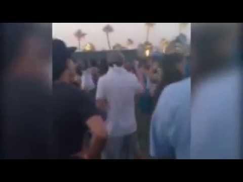 Leonardo DiCaprio dancing at Coachella 2014