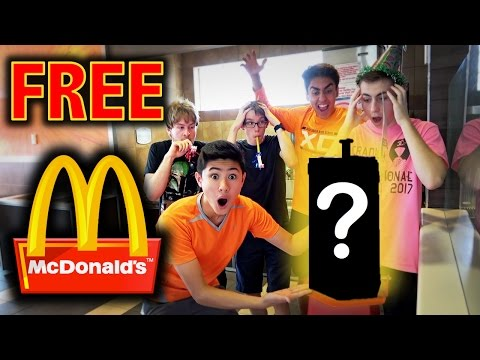 HOW TO WIN FREE FOOD AT MCDONALDS!! **LIFE HACKS**