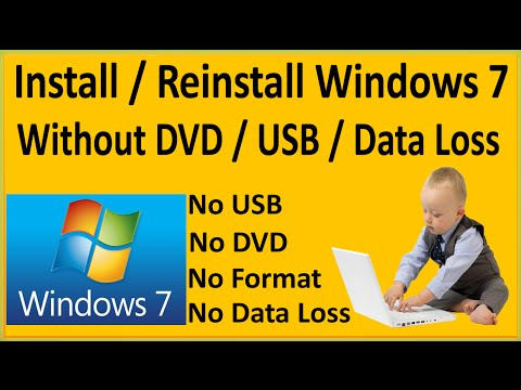 How To Install Windows 7 Without DVD Bootable USB Without Any Data Loss-ReInstall Windows 7