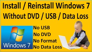 How To Install Windows 7 Without Dvd Bootable Usb Without Any Data Lo