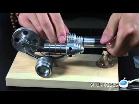 DX: Hot Air Stirling Engine Aluminium Micro-generator Engine Model Toy