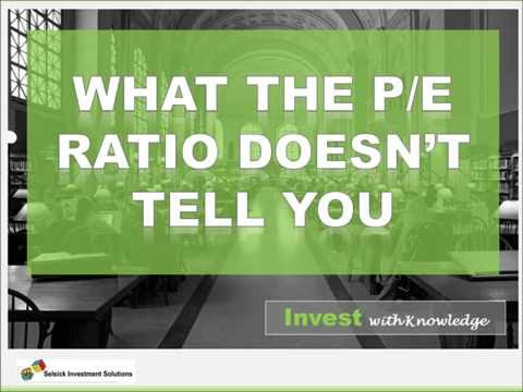 What the P/E Ratio doesn't tell you.