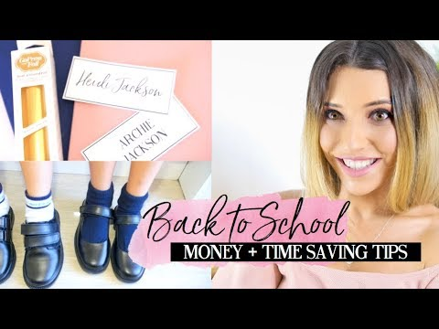 BACK TO SCHOOL HACKS | MONEY AND TIME SAVING TIPS AND IDEAS FOR MUMS!