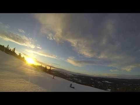 Amazing Sunset skiing in Kvitfjell, Norway