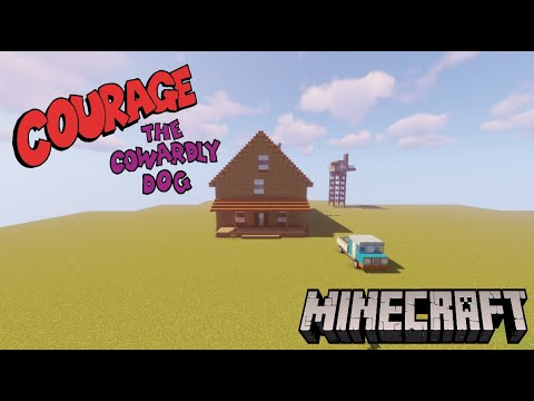 Minecraft: Courage The Cowardly Dog House!