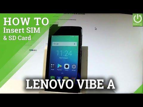 LENOVO Vibe A SIM & SD Slot / Insert SIM and Micro SD Card
