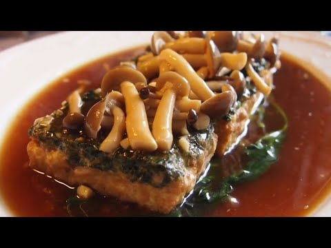 How To Make The Best Spinach Tofu w/ Shimeiji Mushrooms