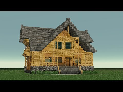 MINECRAFT: How to build big wooden house #6