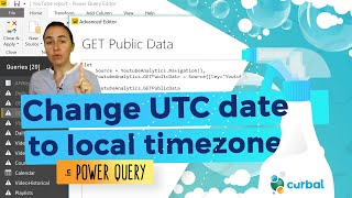 Convert UTC datetime to local time zones in Power Query