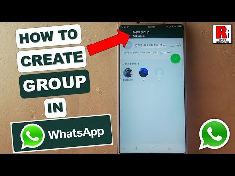 HOW TO CREATE GROUP IN WHATSAPP
