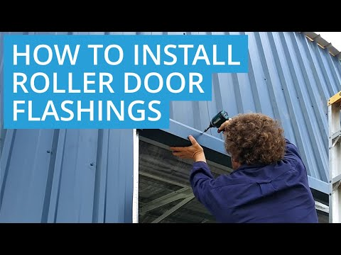 How to Install Roller Door Flashings for a Shed  - D.I.Y Roys Sheds