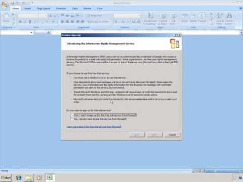 Active Directory RMS Windows Live ID Trial Service Demo