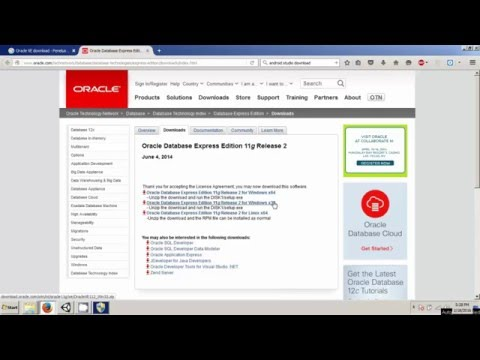 Install Oracle Express Edition 11g on Windows 7 64-bit
