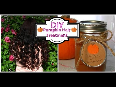 Easy DIY Pumpkin Hair Treatment for Dry Damaged Hair to get moisturizing soft manageable hair