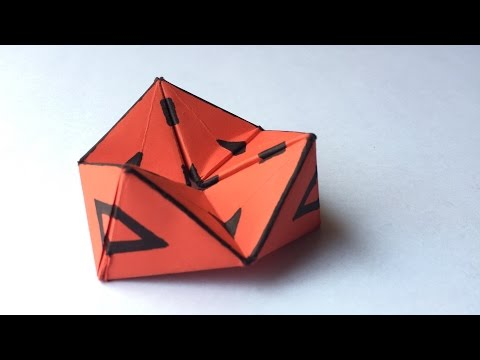 DIY Action Toy | How to make Origami 3D Hexaflexagon | Infinite Flipper - Anushree's Craft TV