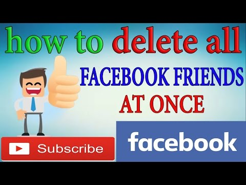 How To Unfriend All Facebook Friends At Once - delete all facebook friends 2016
