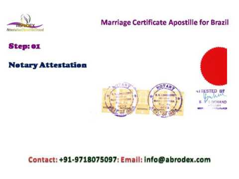 Marriage Certificate Apostille for Brazil