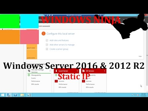 Server 2016 and 2012 R2 - Setting Static IP
