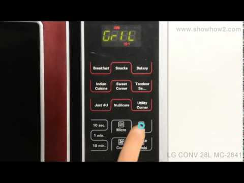 LG MC-2841SPS Convection Microwave Oven - How To Set Up Grill Cooking