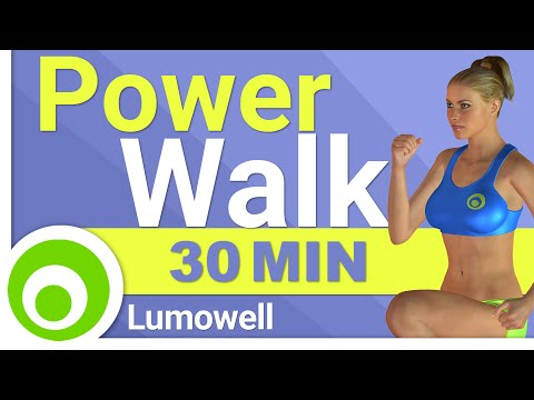 Fat Burning Power Walk Workout at Home - 30 Minute Walking Exercises for Weight Loss