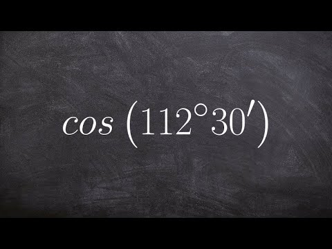 Using the half angle formula for cosine to evaluate for an angle cos