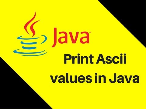 5.8 How to Print Ascii values in Java