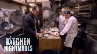 Kitchen nightmares argument dlyak video for Kitchen nightmares fake