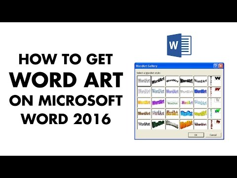 How to get the original Word Art on Word 2016
