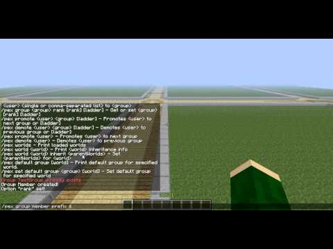 How to create groups with Permissions commands *EASIEST WAY*- PermissionsEx Minecraft