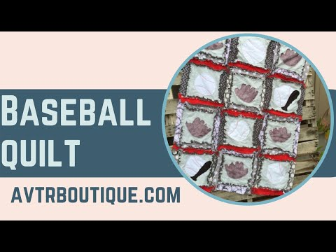 Easy Peasy Rag Quilt Baseball Themed Quilt Pattern by A Vision to Remember