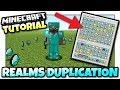 Minecraft Xbox - REALMS DUPLICATION GLITCH - Tutorial - MCPE / Windows 10 / Switch