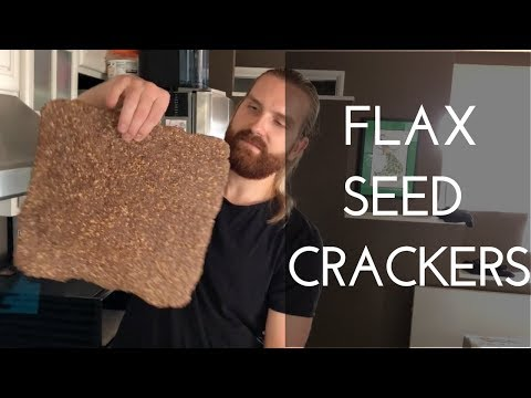Making Flax Seed Crackers - how to make flaxseed crackers.