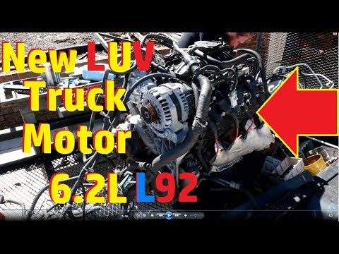 Tearing down 6.2L L92.Chevy LUV truck motor swap.