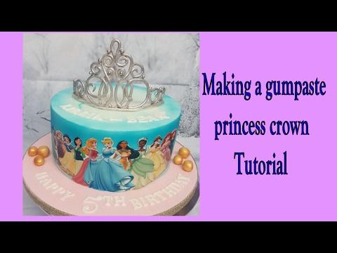 Making a gumpaste princess crown tutorial