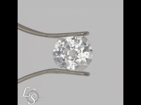 Round White Sapphire Loose Gemstone, the perfect Diamond Alternative Gemstone - LSG286