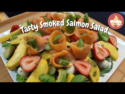 SMOKED SALMON SALAD (Healthy Food) - Pabs Kitchen