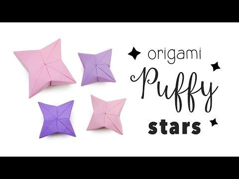 3D Origami Puffy Star Tutorial ✦ DIY ✦ Hanging Decoration ✦ Paper Kawaii