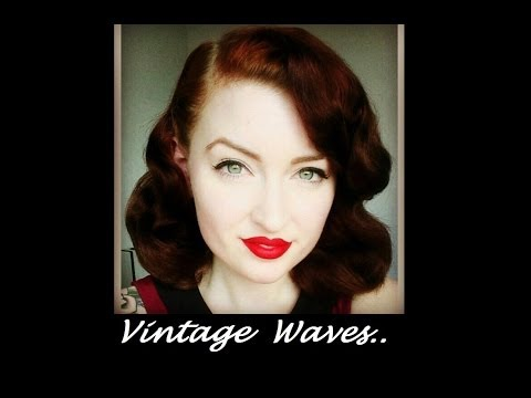 Vintage loose Waves no heat curls