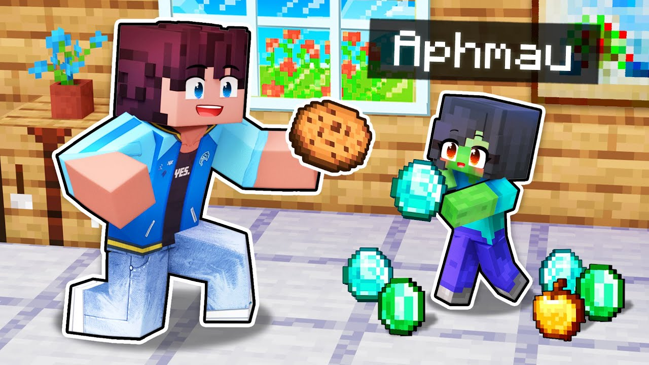 Playing Minecraft as a HELPFUL Zombie!