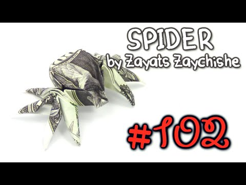 Cool Origami Money  Spider by Zayats Zaychishe  - Yakomoga dollar Origami tutorial