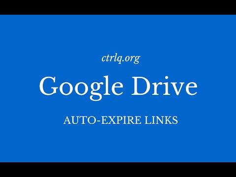 Set Auto Expiration Dates for Google Drive Files