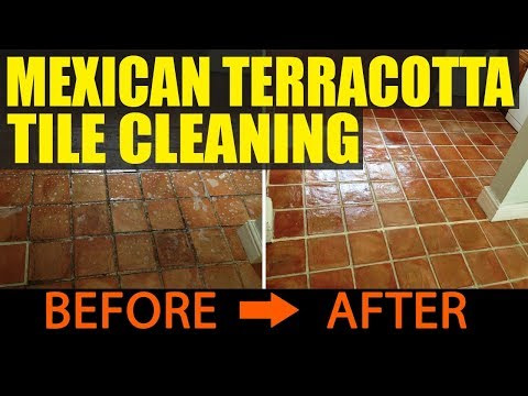 Cleaning and Sealing Handmade Mexican Terracotta tiles in Wellington