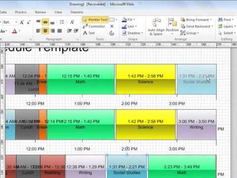 Creating Intervals (Periods) in Visio