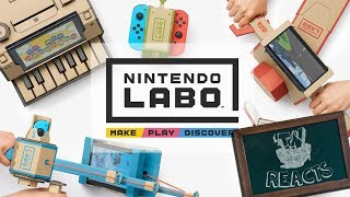 FIRST LOOK AT NINTENDO LABO!! | Think Reacts