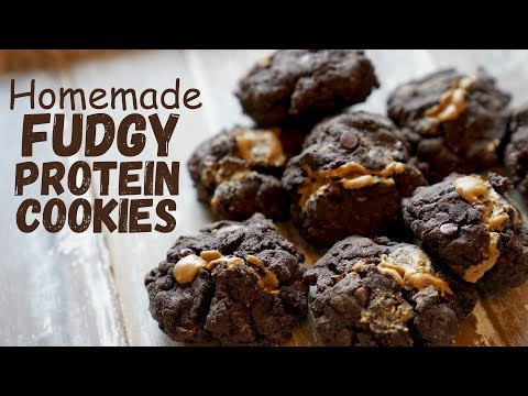 Homemade Fudgey Chocolate Chip Cookies - HIGH PROTEIN!