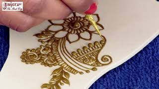 Mehndi Design For Hands : Easy Back Hand Arabic Mehndi Design For Girls by Sonia Goyal #228
