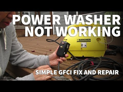 Pressure Washer Repair with Oaonan GFCI Plug – Electric Pressure Washer Not Working