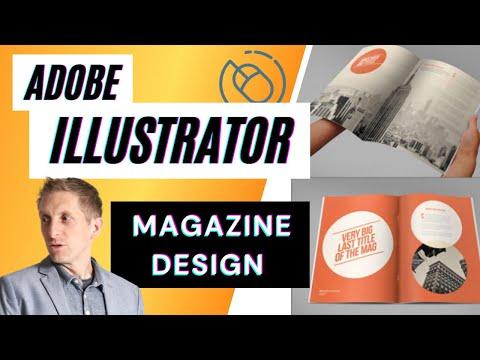 Magazine Article Design Layout Setup Tutorial in Adobe Illustrator